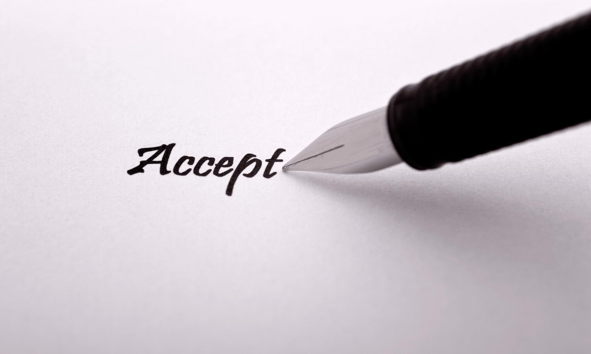Tipp 1: Akzeptanz